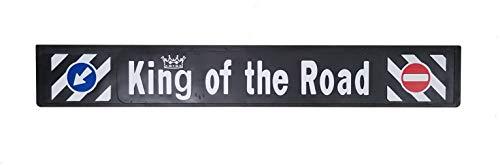 1 stuks. Lange achterschort van hard rubber King of the Road rubber vuilvanger vrachtwagen truck hanger oplegger 240 x 35 cm