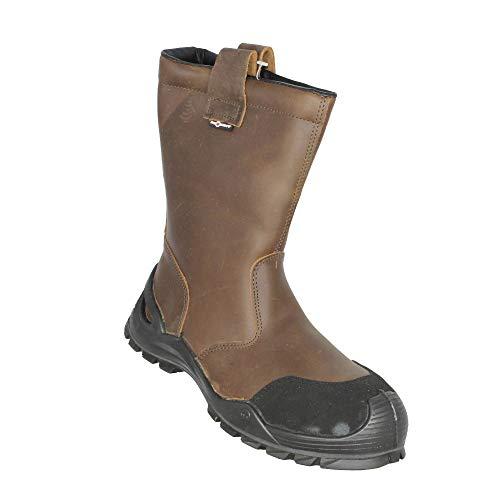 Aimont Agor S3 SRC Forststiefel Mehrzweckstiefel Stiefel Braun B-Ware, Größe:41 EU