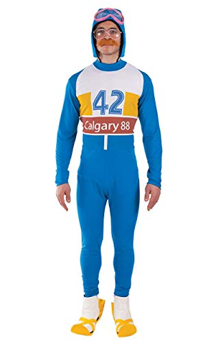 Orion Costumes Mens 80s Olympic Skier Film Fancy Dress Costume, Blue, White, Standard