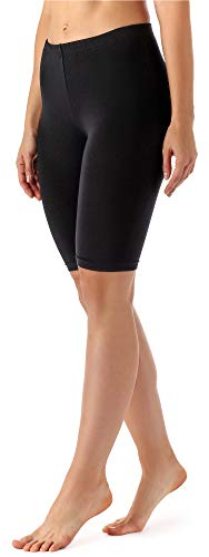 Merry Style Damen Kurze Leggings aus Viskose MS10-145 (Schwarz, 4XL)