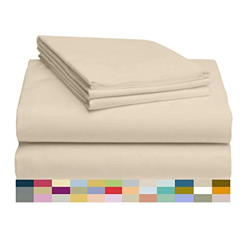 LuxClub 4 PC Sheet Set Bamboo Sheets Deep Pockets 18
