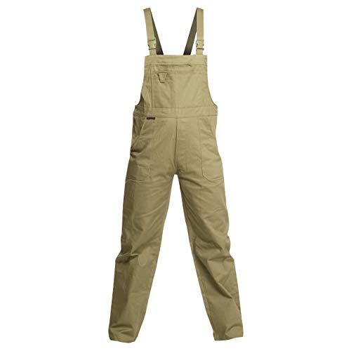 Sweat Life Charlie Barato® Herren Arbeitshose braun - waschfeste Latzhose Khaki - robuste Arbeitslatzhose (56)