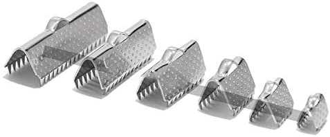 20Pcs Stainless Steel Gold Ribbon Cord Clamp Clip 2021 spring and summer new Austin Mall Textured Crimp