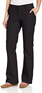 Dickies Women's Flat Front Stretch Twill Pant Slim Fit...