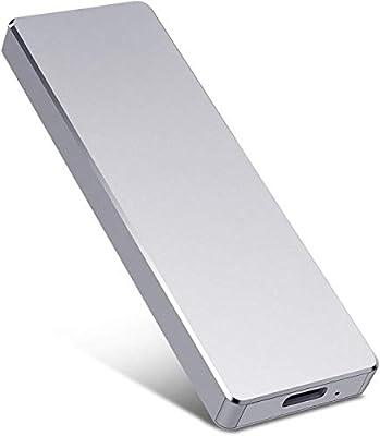 External Hard Drive, 1TB 2TB Slim External Hard Drive Portable Storage Drive Compatible with PC, Laptop and Mac(2TB Silver)