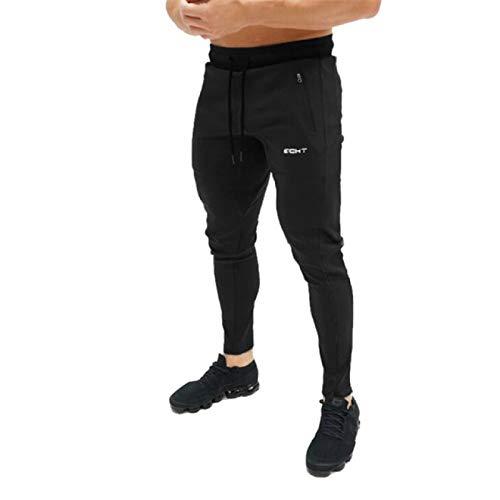 Pantalones Deportivos para Correr para Hombre, Color Puro algodón, Verano y otoño, Varios tamaños, con cordón, Cintura elástica, Pantalones Sueltos para Fitness, adecuados para Deportes al Aire L