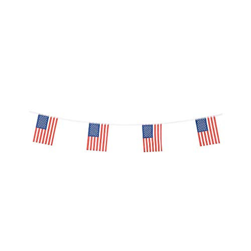 pretty_jessie American Flags USA Small String Flag Banner US Mini National Country World Flags 4th of July Pennant Banners for Party Events Classroom Garden Festival Decorations (American)