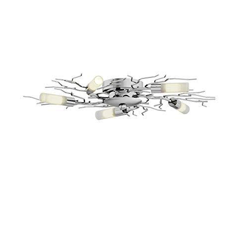 Lindby LED Deckenleuchte 'Felicity' (Modern) in Chrom aus Metall u.a. für Flur & Treppenhaus (5 flammig, G9, A+, inkl. Leuchtmittel) - Lampe, LED-Deckenlampe, Deckenlampe, Flurleuchte