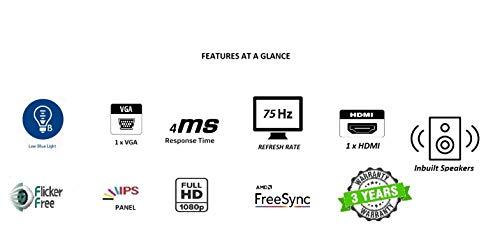 Acer 21.5 Inch Full HD IPS Ultra Slim (6.6mm Thick) Monitor I Frameless Design I AMD Free Sync I Eye Care Features I Stereo Speakers (HA220Q)