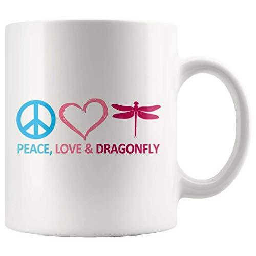 N\A Taza Paz Amor y Libélula TL