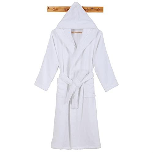 Hombres Albornoz Long Men's Robe Cálido Albornoz Baño Toalla Suave Toalla Termal Vestido WAITAO (Color : Yellow, Size : XL(175-190cm))