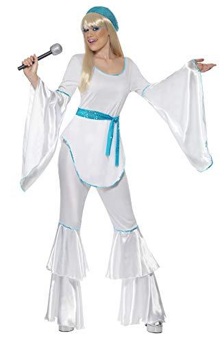 Smiffys-33483M Disfraz de Super Trooper, con Top, Pantalones, Sombrero y cinturón Corbata, Color Blanco, M-EU Tamaño 40-42 (Smiffy