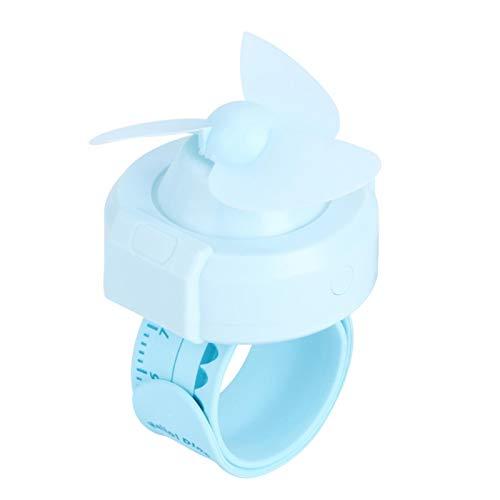Omabeta Einstellbare Innovative Handgelenk Fan Compact Uhrenform Haushaltswaren als Geschenk(Blue)