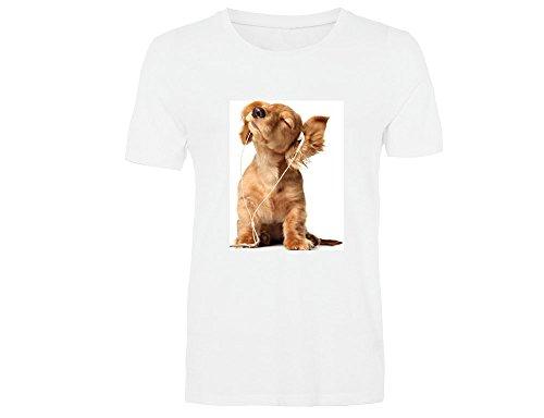 Camiseta Unisex Blanca de algodón Personalizada con Foto - Estampacion a 2 Caras, Formato A4, Talla XL