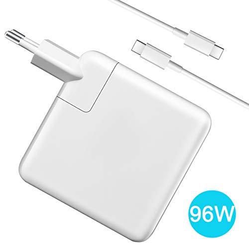 Compatible con MacBook Pro cargador USB C 16 15 pulgadas 2016 2017 2018 2019, cargador de repuesto para nuevo MacBook Pro, fuente de alimentación Thunderbolt, cable de carga con cable de 6,6 pies