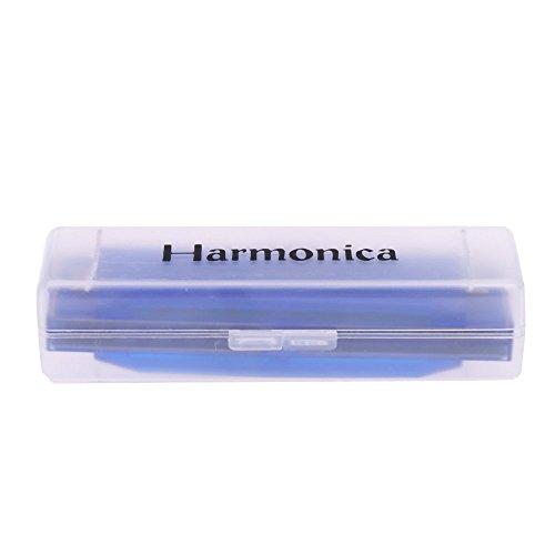 Mundharmonika - TOOGOO(R) Diatonische Mundharmonika 10 Loecher Blues Harfen Mund Orgel Key of C Schilf Instrument mit Case Kinder Musik Spielzeug Blau