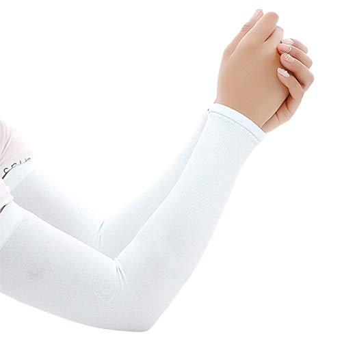 Trihedral-X 1 par Hombres Mujeres Ciclismo Manga de Brazos Corriendo Ciclismo Ciclismo protección Sol Punto Manguito Cubierta Protectora Anti-Sudor Brazo Calentadores (Color : WT2)
