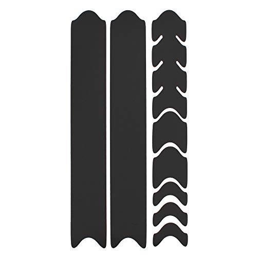 AlphaShield Fahrrad Rahmenschutz Kettenstreben Schutz Folie Aufkleber Rahmen Schutz Carbon MTB BMX Lackschutz Folie K099 (Matt Schwarz)
