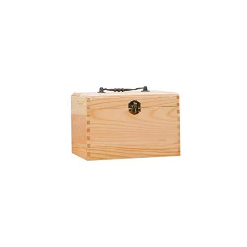 Zoavash Massivholz Medizin Box Tragbare Erste-Hilfe-Kasten Hausapotheke Aufbewahrungsbox Kosmetiketui 21 × 14 × 14cm Hyococ