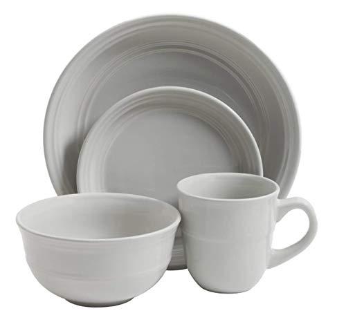 Mainstays 16-Piece Round Dinnerware Set, Linen