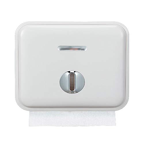 WHL Papierspender Papierhandtuchspender, Gewerbe Toilettenpapierspender Wandhalterung Papierhandtuchhalter for Badezimmer, Küche Adhesive Toilettenpapierhalter Papierspeicherung (Color : B)