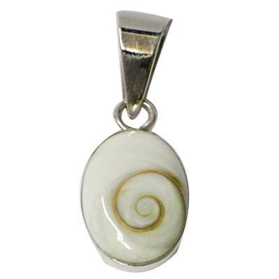 Chic-Net Shiva Eye pendente d'argento ovale 14 millimetri ciondolo passati 925 Sterling Silver di Shiva Eye signore degli occhi