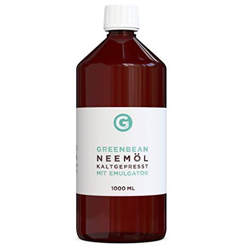 greenmade Aceite de nim (aceite de nim) con emulsionante, 1000 ml, mezclado y listo para usar.