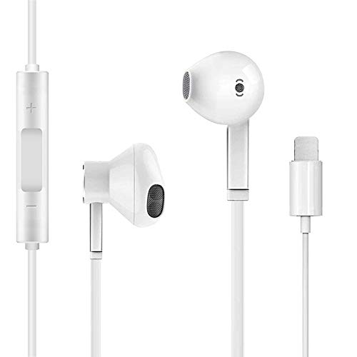 Earbuds Earphones Wired Stereo Sound Headphones for iPhone with Microphone and Volume Control Active Noise Cancellation Compatible with iPhone Xs/XR/XS Max/iPhone 7/7plus 8/8plus /11/12/pro/se