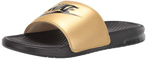 Nike Damen 343881-014_39 Slides, Black Black Metallic Gold, EU