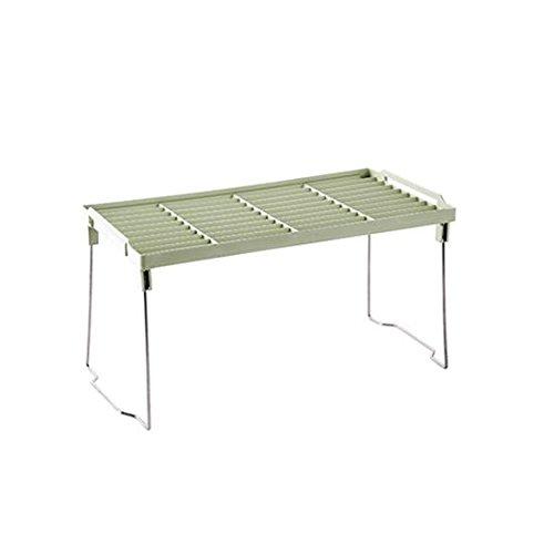 WEIAIXX Vouw de saus Rack keuken kruidenrek keuken werkbladen, vloer tot plafond planken, rekken, lichtgroen.
