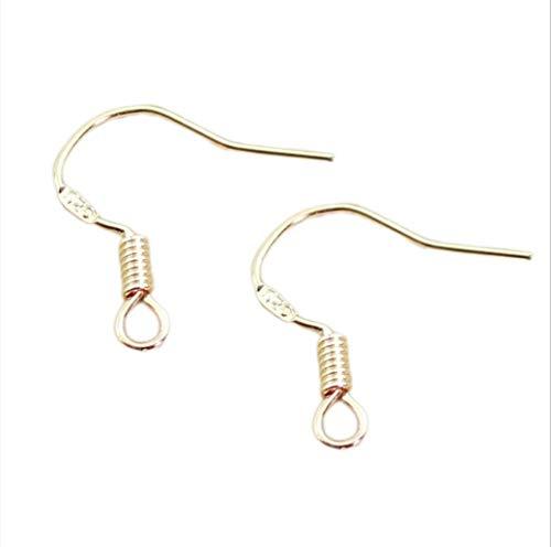 BOSAIYA GG1 50 unids/Lote S925 Pendiente de Plata esterlina Ganchos KC Oro Silver Silver Studs Hooks Habladores para Pendientes Joyería Haciendo hallazgos Tl531 (Color : KC Gold)