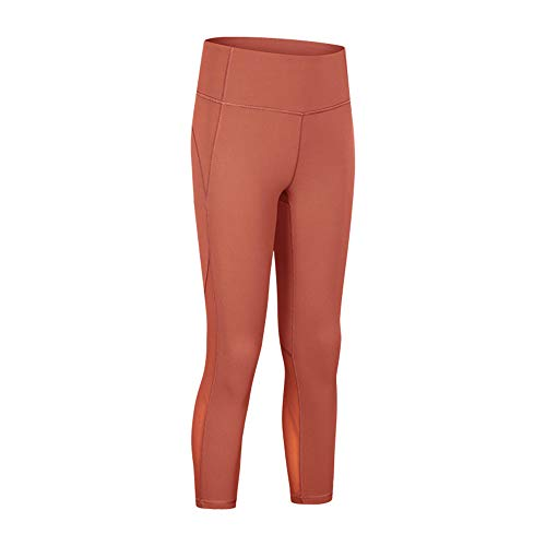 PPPPA Spring and Summer New Double-Sided Stretch Slim Yoga Pants high Waist hip hip cool mesh Running Sports Cropped Pants Female Yoga Pants Elastic Tight solid Color hip hip Fitness Pants Women