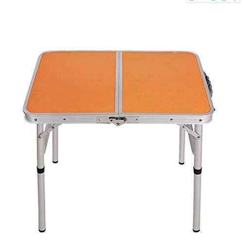 XIA Table pliante camping extérieur 1/2/4 tabouret en alliage d'aluminium exposition pique-nique étude table 60 * 45 * 58.5cm (Couleur : D)