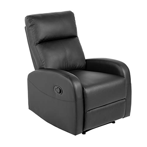 riess-ambiente.de Moderner Relaxsessel Hollywood II schwarz Fernsehsessel mit Liegefunktion Sessel Wohnzimmersessel