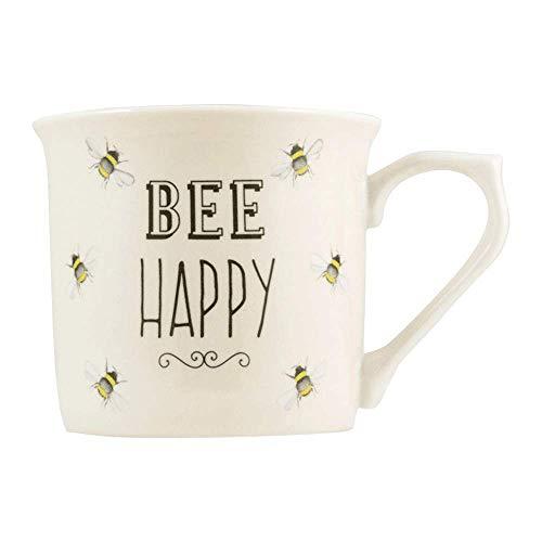 English Tableware Co. Bee Happy Cream Fine China Mug