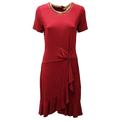 5506AD Abito Donna Michael MICHAEL KORS Burgundy Dress Women [M]