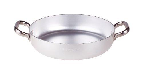 Pentole Agnelli ALMA11040 Tegame con Maniglie, Alluminio, Argento, 40 cm