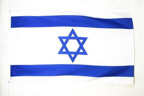AZ FLAG Flagge Israel 90x60cm - ISRAELISCHE Fahne 60 x 90 cm - flaggen Top Qualität