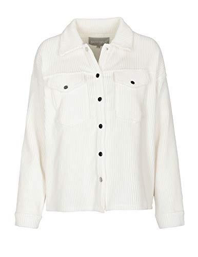 BASEFIELD Breitcord-Overshirt - Off White