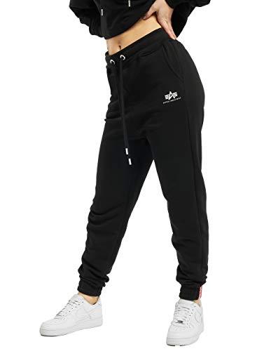 ALPHA INDUSTRIES Damen Jogginghose Basic SL Wmn Black (S)