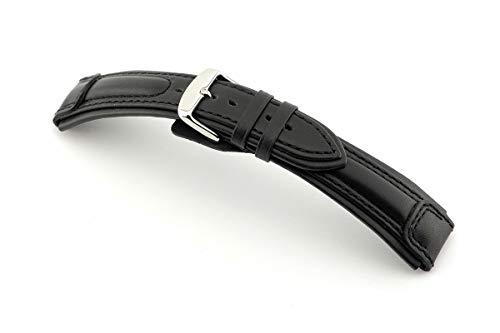 RIOS1931 Reloj de pulsera para hombre Apulia Mod. 138, piel de becerro, ancho 20 mm, longitud 120/92 mm, color negro