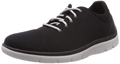 Clarks Herren Tunsil Ace Sneaker, Schwarz (Black Textile), 39.5 EU