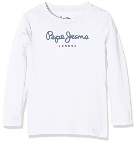 Pepe Jeans Jungen New Herman Jr T-Shirt, Weiß (White 800), 6-7 Jahre (Herstellergröße: 6)