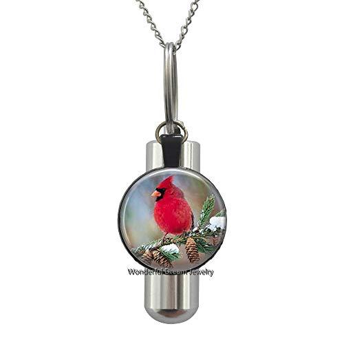 Ni36uo0qitian0ozaap Cardinal Pendant,Necklace or Key Chain-Cardinal Necklace,Memorial Necklace,Loved Ones,TAP343