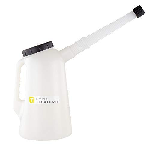 Messkanne | Messbecher | PE | 5,0 l | mit Deckel & Skalierung | Originalnr.: 016000105 | TECALEMIT | Messeimer | Polyethylen | TECALEMIT | Kanne | Eimer | Ölkanne | Füllkanne | PE