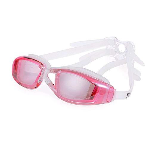 Zwembrillen | Zwembrillen voor Mannen Vrouwen Volwassenen - Beste Niet Lekken Anti-Fog UV Bescherming Clear Vision roze