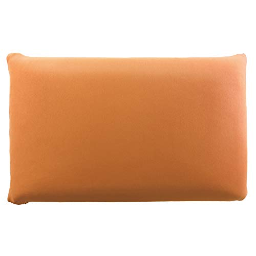 Edda Lux - Funda para almohada (72 x 42 cm, 70 x 42 cm, 100% algodón, con cremallera), color naranja