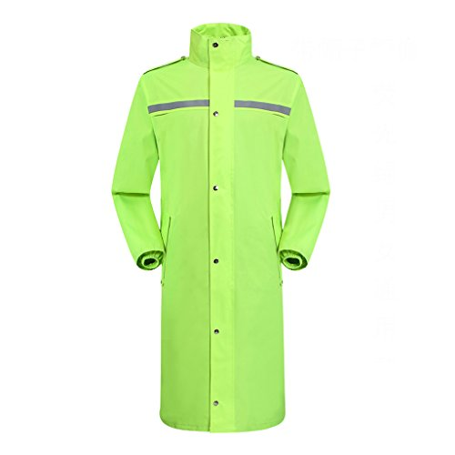 LAXF-raincoat for Men Waterproof Full Length with Hood/Rainwear Adults Hooded Outdoor Work (Color : D, Size : L)