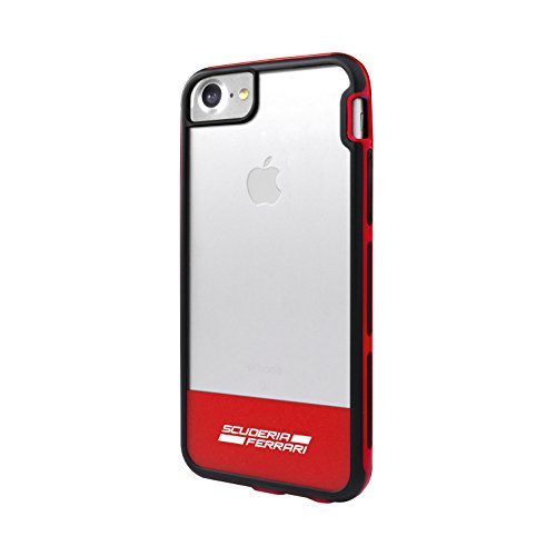 Ferrari FECI023 custodia per cellulare da 11,9 cm (4,7'), Rosso, Trasparente - Custodie per telefoni cellulari (Cover, Apple, iPhone 7, 11,9 cm (4,7'), Rosso, Trasparente)