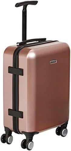 AmazonBasics - Maleta de mano de ruedas, metálica, 55 cm, Rosa dorado
